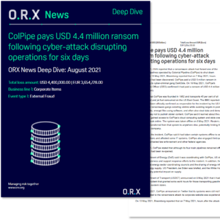 ORX News ColPipe Deep Dive front cover